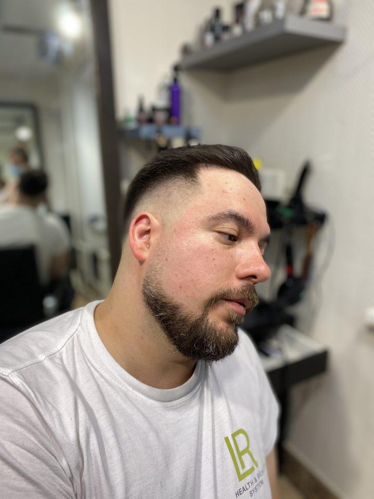 Стрижка с Fade + моделирование бороды